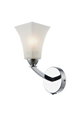 Arlington Single Wall Light in Polished Chrome with a White Scavo Glass Shade, Switched - dä ARL0750